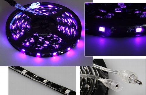 """LED-Stripe """"CLS-500UV"""" 500cm, Schwarzlicht, 150 LED"""