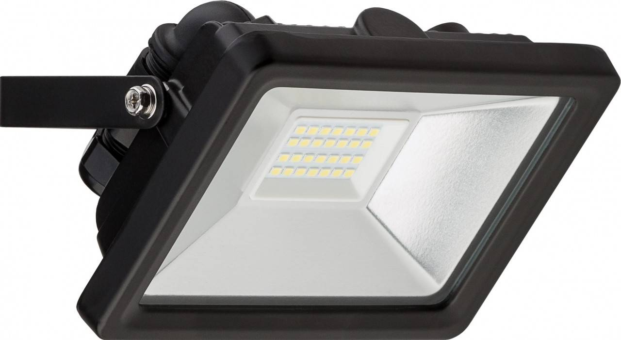 led flutlichtstrahler 20w 1650 lumen kaltwei 6500k schwarz. Black Bedroom Furniture Sets. Home Design Ideas