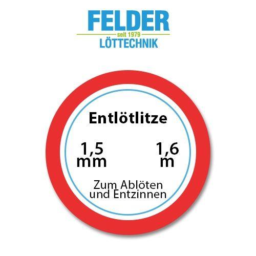 Entlötlitze FELDER, 1,5mm, Kupferlitze, 1,60m Spule