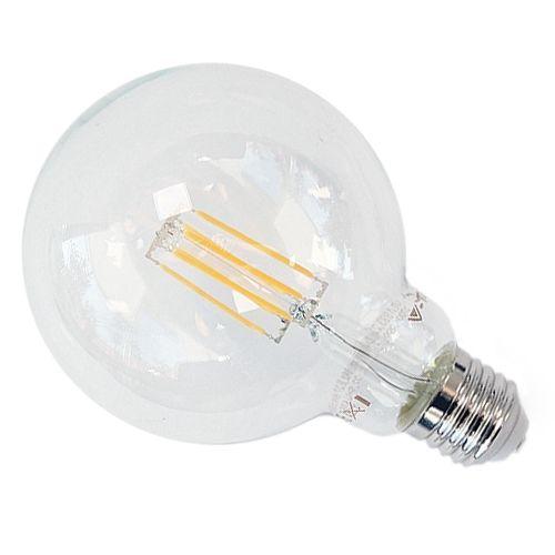 LED-Globe E27, 6W Filament G95, warmweiß