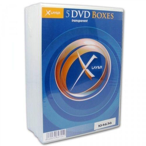 DVD-Hüllen, 5 Stück, einfach, clear
