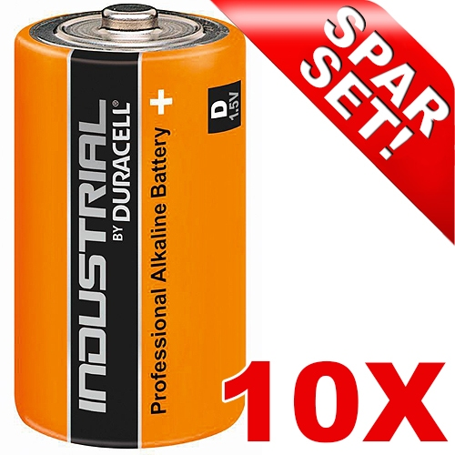 10 x duracell industrial mono d batterien. Black Bedroom Furniture Sets. Home Design Ideas
