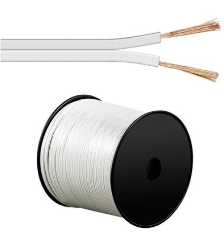 Lautsprecherkabel weiß, Q.2x1,50, 100m, CCA
