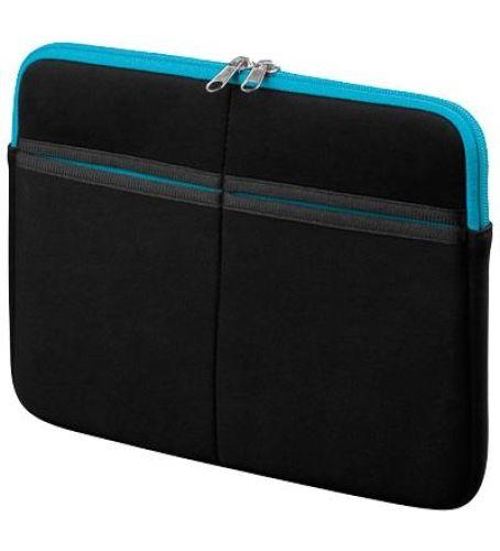 """Textilgewebe-Tasche für 7"""" Tablet-PC, schwarz/blau"""