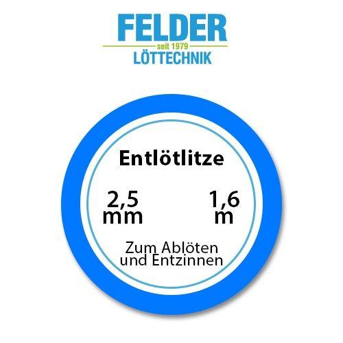 Entlötlitze FELDER, 2,5mm, Kupferlitze, 1,60m Spule