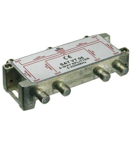 Sat-Verteiler 6-fach / 5-2450 MHz - digital-tauglich