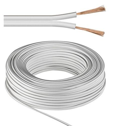 Lautsprecherkabel weiß, Q.2x2,5, 50m, Kupfer