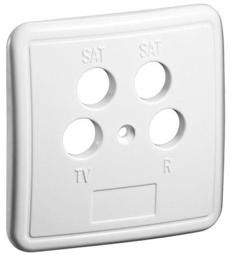 4-Loch Abdeckung für Antennendosen, W