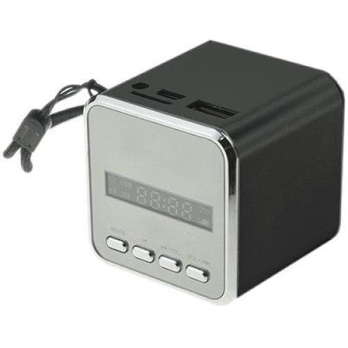 Tragbarer Mini-Lautsprecher/ Mini-MP3-Player/Radio, schwarz