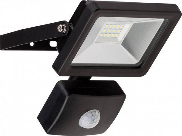 LED-Flutlichtstrahler, 10W mit Bewegungsmelder, schwarz