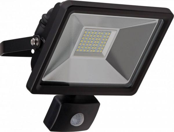 LED-Flutlichtstrahler, 30W, mit Bewegungsmelder, schwarz