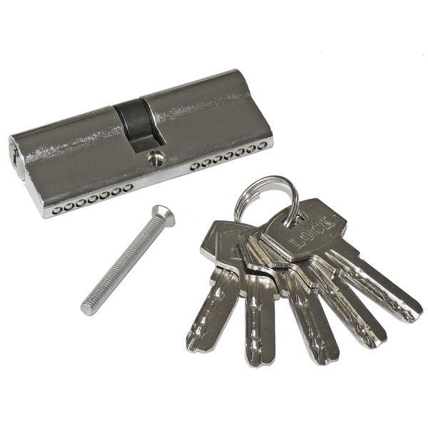 Sicherheitszylinder 80mm 40/40 mit 5 Schlüsseln