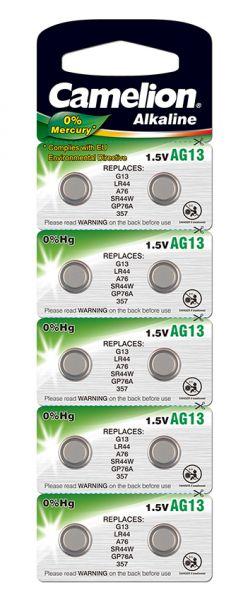 10 Knopfzellen AG13 Alkali-Mangan