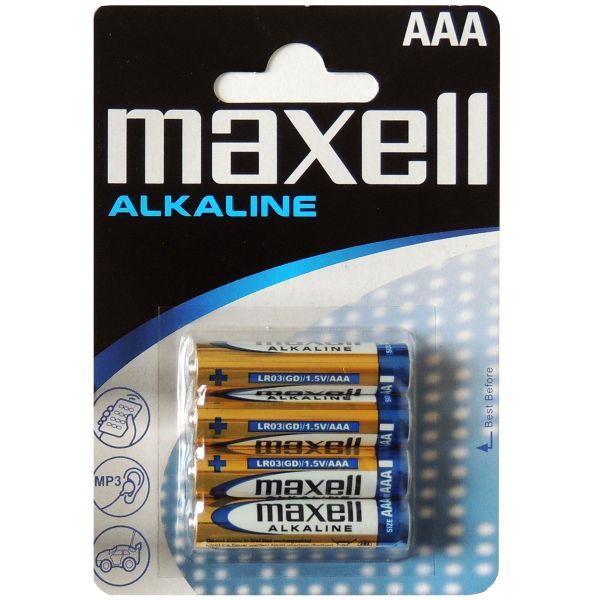 4er Pack AAA Micro LR03 Alkaline Batterien von Maxell