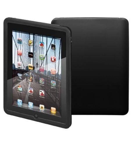 Robuste Silikon Tasche (schwarz) für iPad