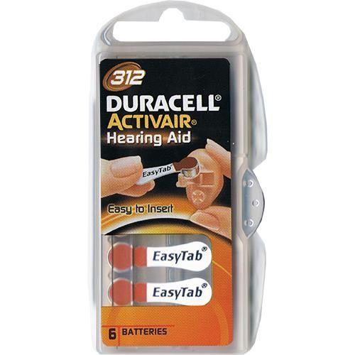 Hörgerätebatterie Duracell EasyTab 6 Stück V 312