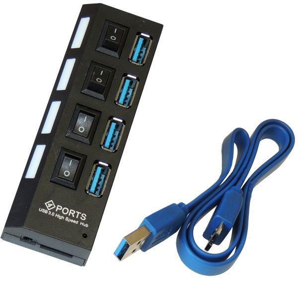 4-Port Hub USB 3.0 , schaltbar