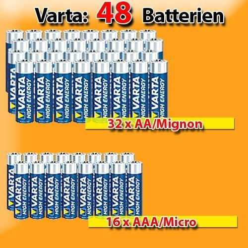 * Sparset: 48 Varta High Energy Batterien