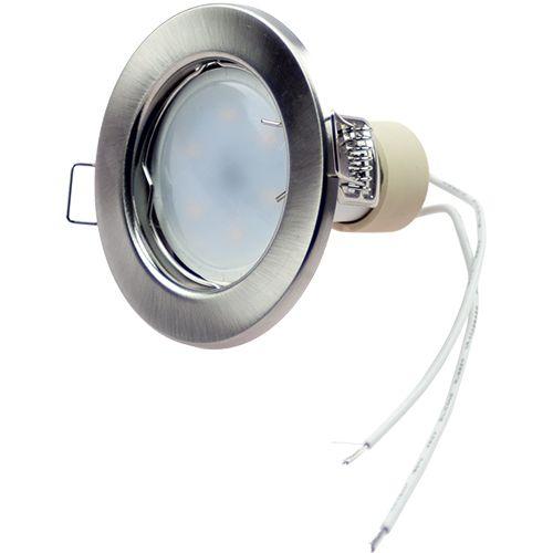 LED Einbaustrahler 7W / 500lm / kaltweiß / chrom-matt / starr