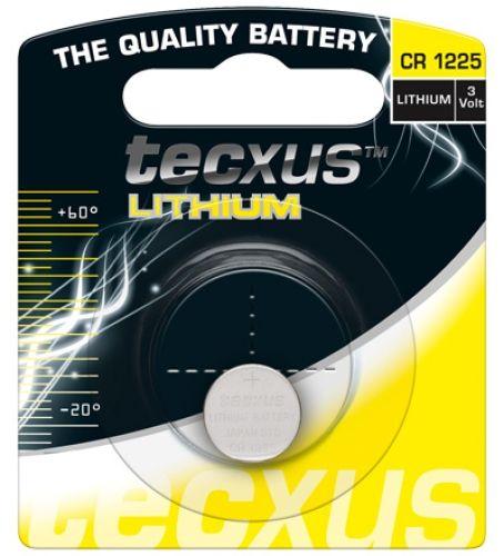 tecxus Knopfzelle Lithium, CR-1225