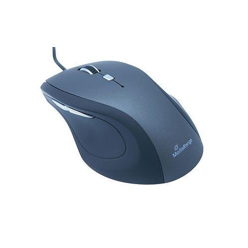 MediaRange optische 5-Tasten-Maus, mit Kabel, 2400 dpi