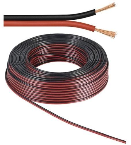 Lautsprecherkabel rot/schwarz, Q.2x1,50, 50m, CU