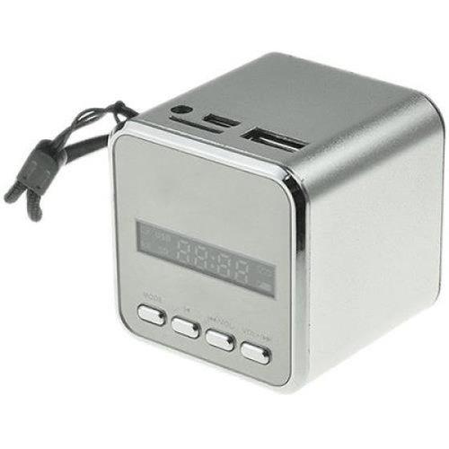 Tragbarer Mini-Lautsprecher/ Mini-MP3-Player/Radio, silber