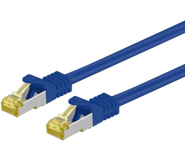 Patchkabel Cat.7 / RJ45 Cat.6a Stecker, 30m, blau