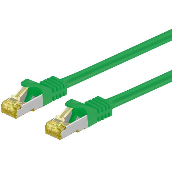 Patchkabel Cat.7 / RJ45 Cat.6a Stecker, 10m, grün