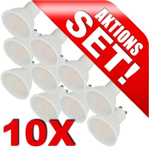 led strahler gu10 5w 320lm kaltwei 10er pack. Black Bedroom Furniture Sets. Home Design Ideas