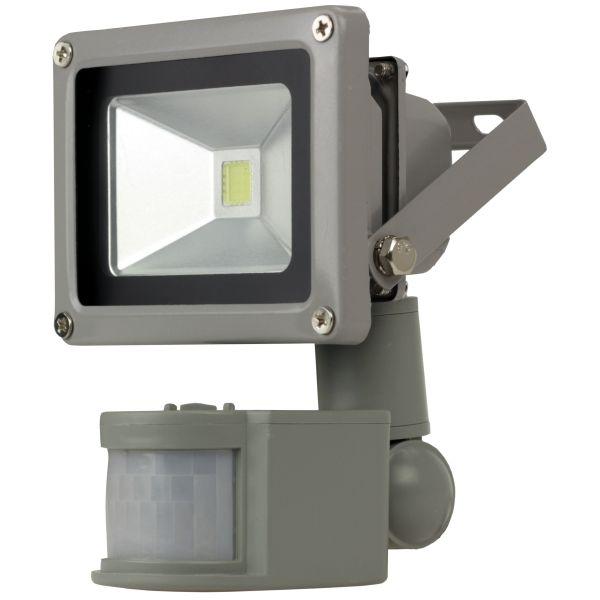 LED-Fluter, 230V, 10W, weiß / 6000K, mit Bewegungsmelder, SL