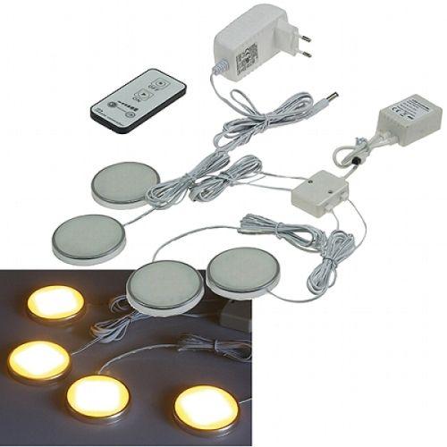 LED Aufbauleuchten 4er Set 4 W / 150 Lumen warmweiß