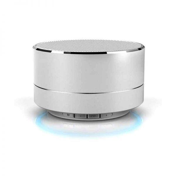 Bluetooth Lautsprecher, mobil mit MP3 Wiedergabe, silber
