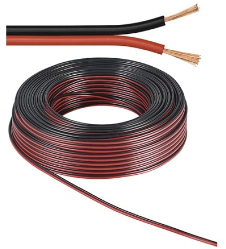 Lautsprecherkabel rot/schwarz, Q.2x0,50, 50m, CU