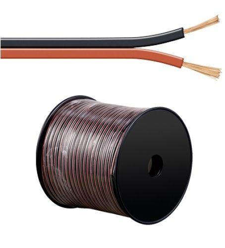 Lautsprecherkabel rot/schwarz, Q.2x0,75, 100m, CCA