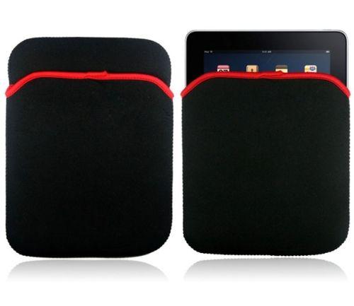 """7"""" Neopren Tablet-Tasche, schwarz-rot"""