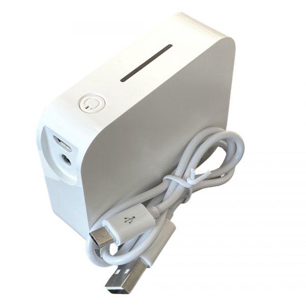 Powerbank AmbientPower 4.400mAh, Weiß, LED beleuchtet