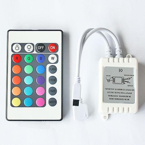 LED-RGB-Controller-Box inkl. Fernbedienung mit 24 Tasten