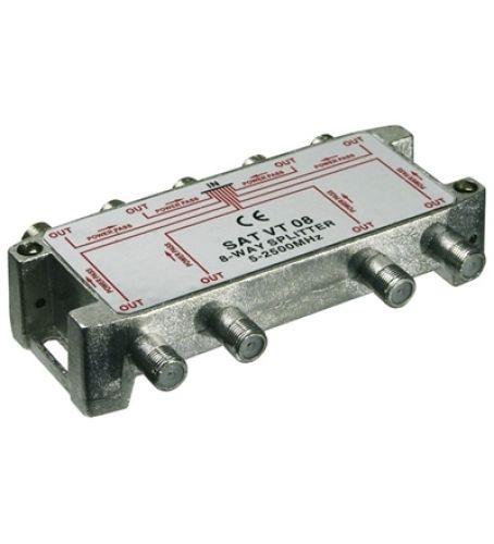 Sat-Verteiler 8-fach / 5-2450 MHz - digital-tauglich
