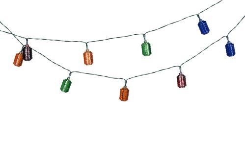 Lichterkette 6 LED Lampions 3,65m Multicolor