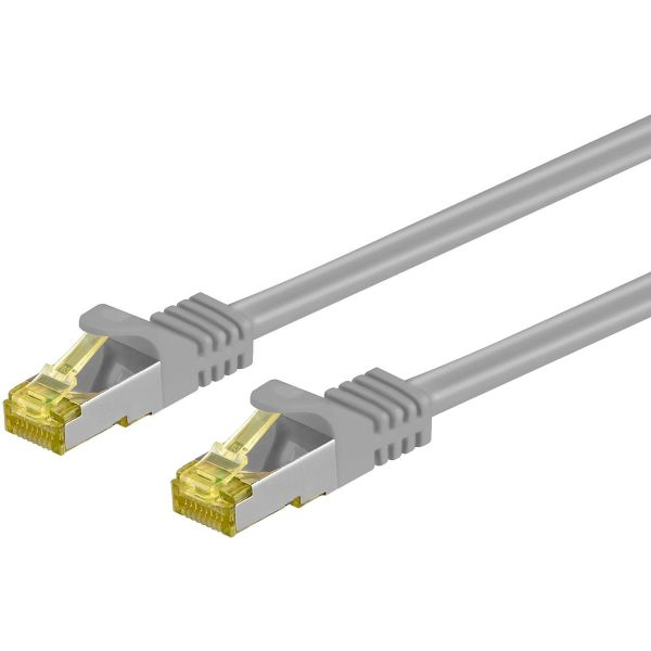 Patchkabel Cat.7 / RJ45 Cat.6a Stecker, 1m, grau