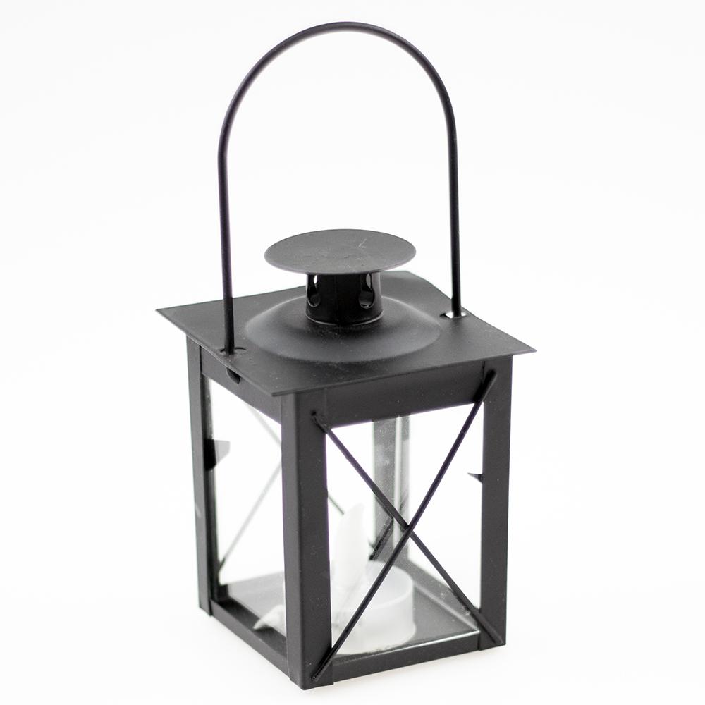 laterne mit led teelicht. Black Bedroom Furniture Sets. Home Design Ideas