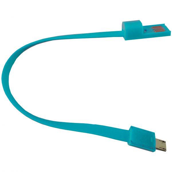 "Armband Lade-/Datenkabel Micro-USB ""Silikon"" , 22cm, in 4 Farben"