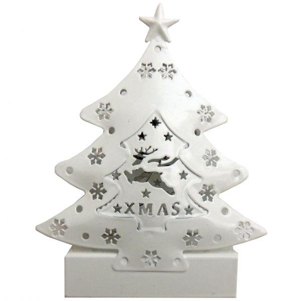 LED Weihnachtsdekobaum mit 2 LED aus Metall