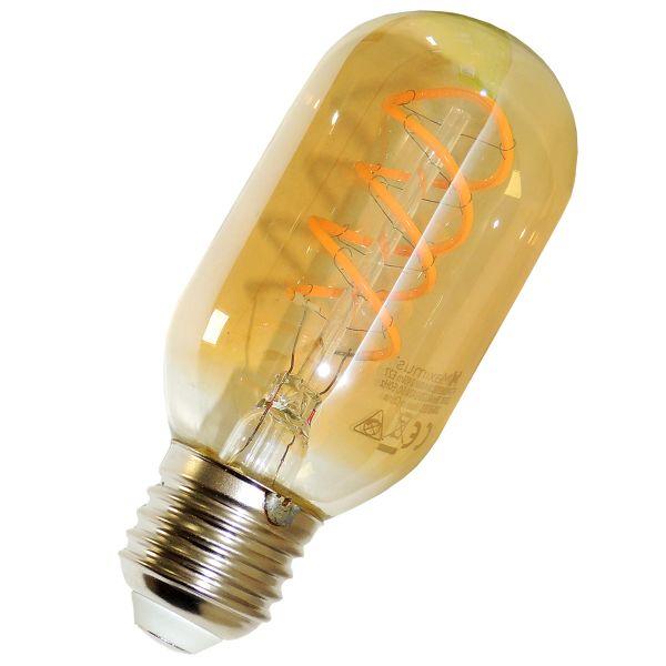LED Birne E27, 4W warmweiß, Filament, gold