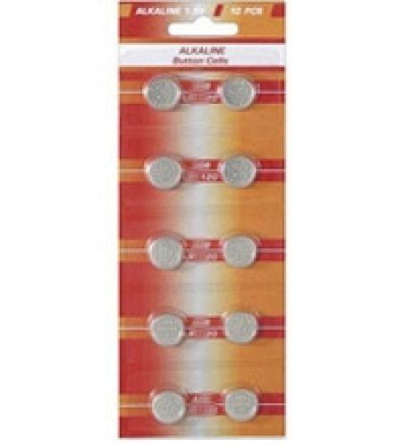 10 Knopfzellen AG7 Alkali-Mangan