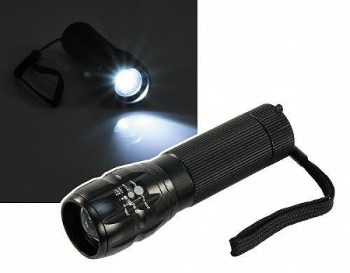 "LED-Taschenlampe ""TL9 Black Beam CREE"" 3W mit Fokus"