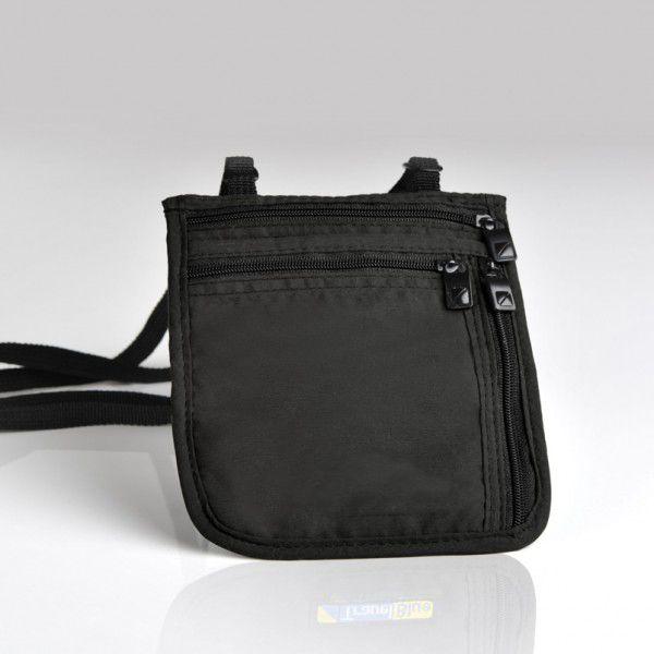 Halstasche extra dünn, schwarz