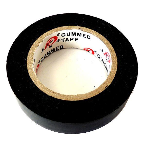 Isolierband gummiert / 18m x 17mm / schwarz