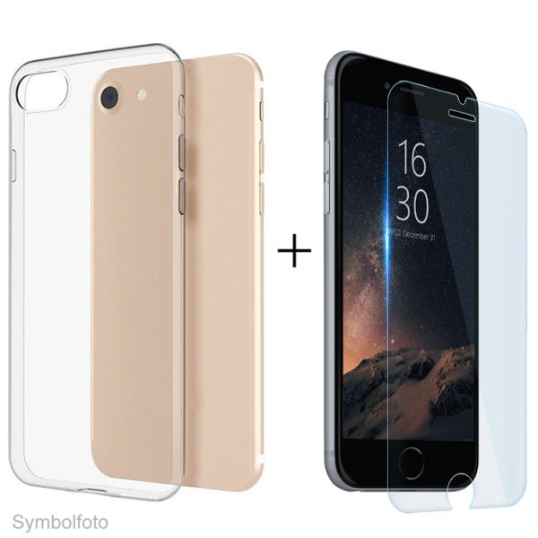 GLASS+CASE 2in1 SET für iPhone 7/8 Plus